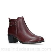 Women Carvela - Wine 'Seattle' mid heel ankle boots Heel height 5.5cm/2.16 inches Material leather AMZZHBI
