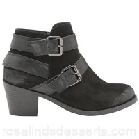 Women Dolcis - Black 'Quincy' ladies slip on ankle boots Heel height 6cm Fastening slip on HXPCTAO