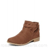 Women Dorothy Perkins - Brown 'Mackenzie' ruched ankle boots  VOWPZFA