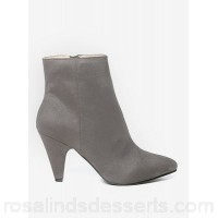 Women Dorothy Perkins - Wide fit grey 'ada' ankle boots 100% polyester Spot clean only DUOTJEO