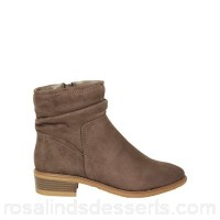Women Dorothy Perkins - Wide fit taupe 'Mallory' boots 100% textile Spot clean only VGFHMAX