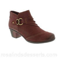 Women Earth Spirit - Dark mauve 'Tampa' ankle boots Fastening zip Upper man made material PNBTWSI
