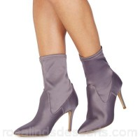 Women Faith - Light purple 'Billy' high stiletto heel ankle boots Heel height 8.5cm / 3.5 inches Upper Textile LNIFPEA