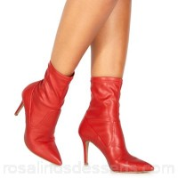 Women Faith - Red 'Billy' high stiletto heel ankle boots Slip-on Heel height 8.5cm/3.3inches RHINPYB