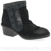 Women Fly London - Black suede 'Duke' ankle boots Heel height 5cm/2 inches Fastening zip VVYSVQL