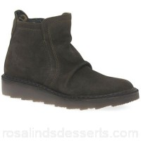 Women Fly London - Green suede 'Adit' ankle boots Fastening zip Upper suede OXNIIDA