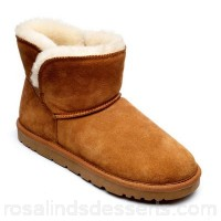 Women Freestep - Ladies real sheepskin ankle boot in tan Upper suede Lining sheepskin GDLHLLW