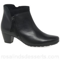Women Gabor - Black 'Bonsoir' womens modern ankle boots Heel height 4.5cm/1.8 inches Fastening zip NTVGBEM
