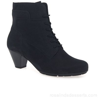Women Gabor - Dark blue 'National' ladies ankle boots Heel height 5cm/2 inches Fastening zip/lace LWCAGVL