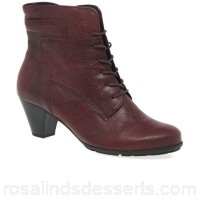 Women Gabor - Dark red 'National' Ladies Ankle Boots Heel height 5cm/ 2 inches Fastening lace/zip FQYUPZQ