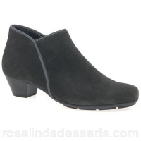 Women Gabor - Grey suede 'Trudy' womens ankle boots Heel height 3.5cm/1.4 inches Fastening zip ETSAURY