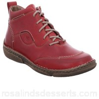 Women Josef Seibel - Red leather 'neele 34' womens ankle boots Fastening lace up Upper leather VISCJJA