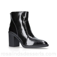 Women KG Kurt Geiger - Black 'Sly' mid heel ankle boots Heel height 8.5cm/3.34 inches Material printed leather KPYSEUW