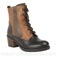 Women Lotus - Brown 'Onslow' mid heel lace up boots Heel height 4cm/1.57 inches Fastening lace up TPKKXOR