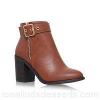 Women Miss KG - Tan 'Jannelle' mid block heel ankle boot Upper synthetic Lining synthetic QURBHPX