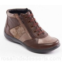 Women Padders - Light brown leather 'Piccolo' wide fit ankle boots Fastening lace up Heel height 3cm/1.18 inches RQSJASZ