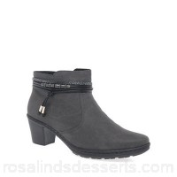 Women Rieker - Grey 'Toggle' womens casual ankle boots Heel height 5.5/2.2 inches Fastening zip CJPEWSZ