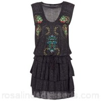 Desigual SAFROS Grey - Short Dresses Women 6919095