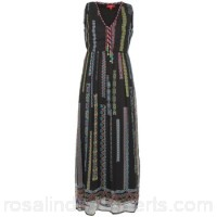 Derhy EGRILLARDE Black / Multicoloured - Long Dresses Women 2724818