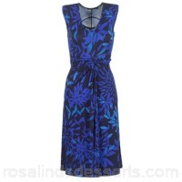 Desigual POLAZA Blue - Long Dresses Women 6919117