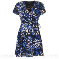 Kookaï MOUXI Blue / Black - Short Dresses Women 7014960
