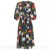 Derhy PARTIEL Marine / Multicoloured - Long Dresses Women 7837942