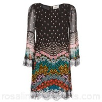 Derhy PALISSY Black / Multicoloured - Short Dresses Women 7837937
