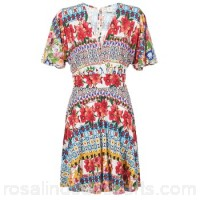 Desigual JEAPRO Multicoloured - Short Dresses Women 6919130