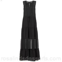 Scotch & Soda WEDOLE Black - Long Dresses Women 6843454