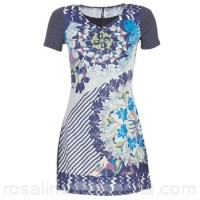 Smash DAISY Blue / White - Short Dresses Women 5978023