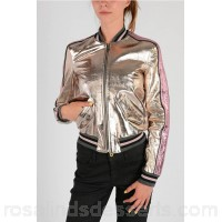Just Cavalli Silver Tone Leather Jacket - Womens Jackets P107904