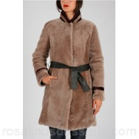DROMe Reversible Coat with Fur - Womens Jackets P108397