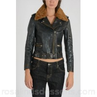 Golden Goose Leather Jacket with Fur - Womens Jackets P97157