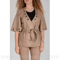 DROMe Leather Short Sleeves Jacket - Womens Jackets P91922
