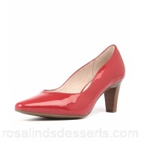 SUPERSOFT Women martine su red patent leather Stacked heel Pointed toe SU10135-RED-PL VLICHVS