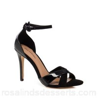 Women Call It Spring - Black 'Kaneloa' high stiletto heel ankle strap sandals Buckle fastening Heel height 10cm/4inches ILVVGMZ