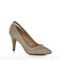 Women Call It Spring - Gold glitter 'Soraya' high stiletto heel pointed shoes Heel height 8.5cm / 3.25 inches Upper textile / man made materials DPAUPDI
