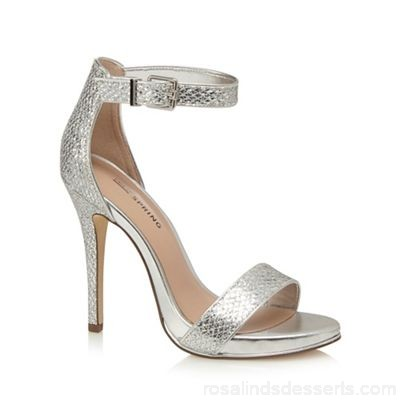 Women Call It Spring - Silver 'Sheren' high stiletto heel ankle strap sandals Heel height 12cm / 4.7 inches Lining man made materials QVFUGJO