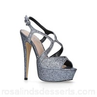 Women Carvela - Silver 'Krissy' court shoes Heel height 15cm/5.90 inches Lining synthetic HFOHMFT