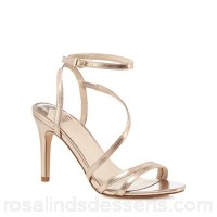 Women Faith - Rose gold 'Delly' high stiletto heel ankle strap sandals Heel height 9cm / 3.6 inches Upper man made materials BAYZWQJ