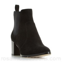 Women Head Over Heels by Dune - Black 'pagey' point toe chelsea ankle boots Heel height 6cm Material micro fibre VSORFXC