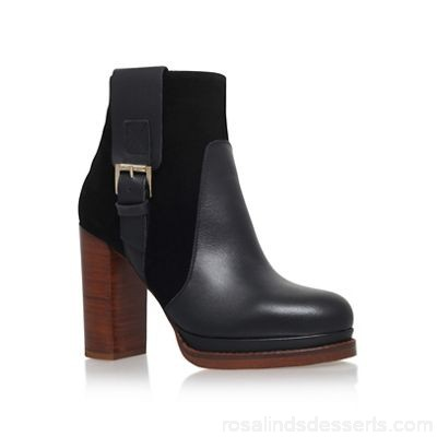Women KG Kurt Geiger - Black 'Sibling' high heel ankle boot Upper leather Lining leather WMXGQWE