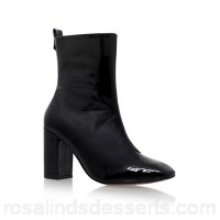 Women KG Kurt Geiger - Black 'Strut' high heel boot Upper Leather Lining Fabric NHFKFOU