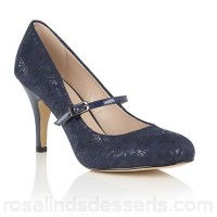 Women Lotus - Blue 'Fuzina' floral print mary jane courts Heel height 8.5cm/3.35'inches Fit Standard CZAXRCV