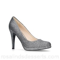 Women Nine West - Pewter 'Wiseup' high heel court shoes Heel height 10cm/3.93 inches Material glitter HFFRWDL