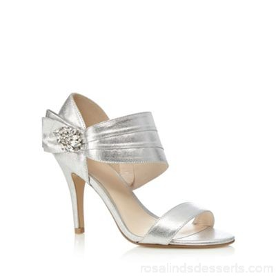 Women No. 1 Jenny Packham - Silver 'Polly' high stiletto heel ankle strap sandals Upper man made materials Lining man made materials AIZGSWR