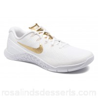 Nike Wmns Nike Metcon 3 Amp Womens Sport Shoes Fall/Winter 2017 White/metallic gold 161801 GQMHSNT