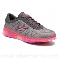 Skechers Go Flex - Ability 14011 Womens Sport Shoes Spring/Summer Charcoal Pink 135543 UGIEEAS