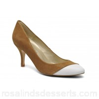 Georgia Rose Labely Womens High Heels Spring/Summer Ante taupe + mestizo blanco 8 cm 118702 UUNFYDQ