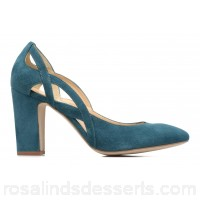 Made by SARENZA Carioca Crew Escarpins #3 Womens High Heels Spring/Summer Cuir Velours Vert Canard 9 cm 165046 UXELHAG